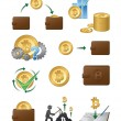 Bitcoin Icons Illustration — Stock Vector #64529703