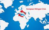 Refugee Crisis Map — Stock Vector