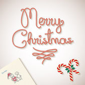 Merry Christmas dear santa sketchy letter Background — Vecteur