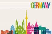 Travel Germany destination landmarks skyline background — Stock Vector