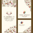 Merry Christmas greeting card set — Stock Vector #55535517