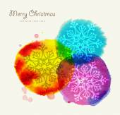 Merry Christmas watercolor greeting card — Stockvector
