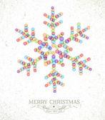 Merry Christmas watercolor snowflake illustration — Stock Vector