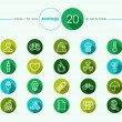 Green environment flat icons set — Stock Vector #57952817