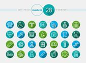 Medical flat icons set — Stock Vector