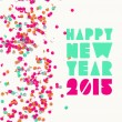 Happy new year 2015 greeting card — Stock Vector #59454431