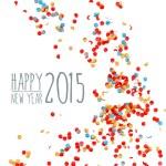 Happy new year 2015 confetti background — Stock Vector #59456769