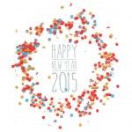 New year 2015 confetti celebration — Stock Vector #59457989