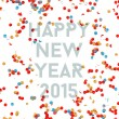 Happy New year party 2015 confetti background — Stock Vector #59458083