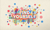 Find yourself quote poster design background — Stock Vector