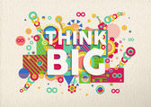 Think big quote poster design — Stock Vector