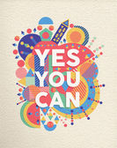 Yes you can quote poster design — Stock Vector
