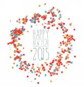 New year 2015 confetti celebration  — Stock Vector
