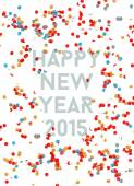 Happy New year party 2015 confetti background — Stock Vector