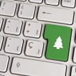 Christmas concept, tree keyboard key. — Stock Photo #59633473