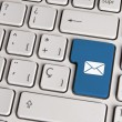 Email concept, mail envelope keyboard key. — Stock Photo #59633621