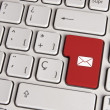 Email concept, mail envelope keyboard key. — Stock Photo #59633883