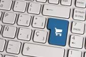 Buy concept, shopping cart keyboard key. — Stock Photo