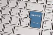 Language concept, translate keyboard key. — Stock Photo