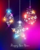 Happy new year 2015 elegant lights card — Stock Vector