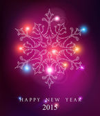 Happy new year 2015 elegant card background — Stock Vector