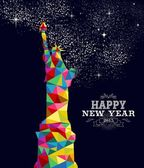 New year 2015 USA poster design — Stock Vector