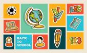 Back to school icon set — Stock Vector