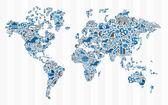 Stock exchange finance world map concept — Stock Vector