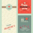 Happy Valentines day greeting cards — Stock Vector #62117509