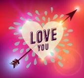 Happy Valentines day heart love illustration — Wektor stockowy