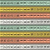 Tailor fashion measure tape pattern — Stock Vector