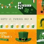 Happy St Patricks day banner illustration — Stock Vector #66981371