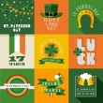 Happy St Patricks day label illustration — Stock Vector #66981375