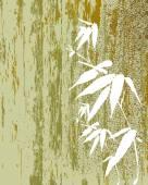 Zen Bamboo vintage illustration — Stock Vector