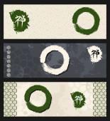 Zen circles banner set — Vector de stock