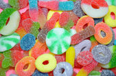 Colorful assorted chewy candy — Stock Photo