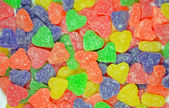 Colorful heart shapes candy — Stock Photo