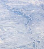Aerial view of northeast Siberia — Stock Photo
