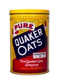Quaker Oats tin — Stock Photo