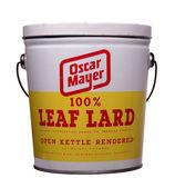 Leaf lard can — Стоковое фото