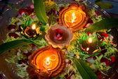 Ornate Earthen Oil Lamps — Stock Photo