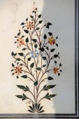 Floral Inlay in Marble — Stock Photo