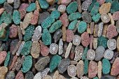 Colorful Stone Mold Pieces — Stock Photo