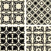 Vector ceramic tiles with seamless pattern — Stockvector