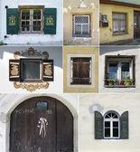 Kleurrijke collage gemaakt van windows — Stockfoto