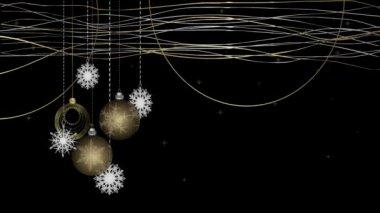 Arrière-plan animé avec des décorations de Noël — Vidéo