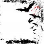 Halloween background with bats — Stock Vector #54732445
