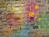 The graffiti brick wall — Stock Photo