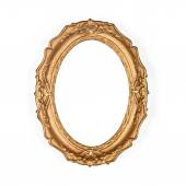 Old golden picture frame — Stock Photo