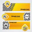 Taxi company banner set of 3 — Stock Vector #51888973
